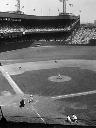 Baseball Game at the Polo Grounds by George Marks