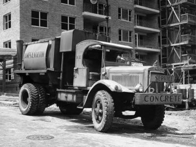 Concrete Truck on Site of Construction by George Marks