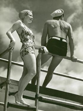 Couple on Diving Platform by George Marks