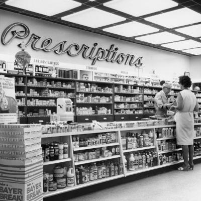 Interior of Drug Store by George Marks