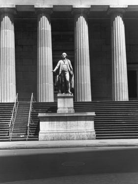 New York, Wall Street, Federal Building by George Marks
