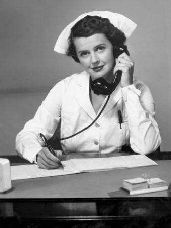 Nurse on the Phone by George Marks