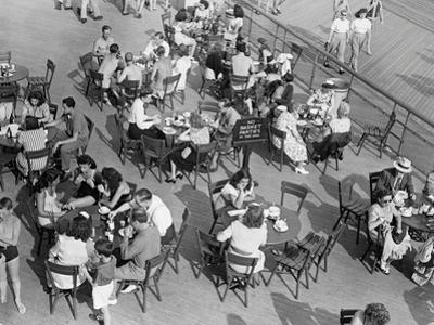Outdoor Cafe Scene by George Marks