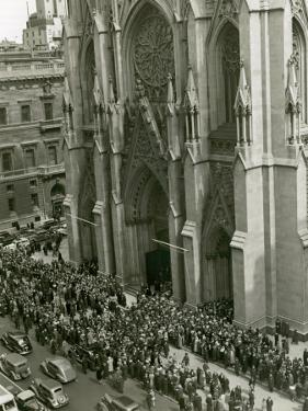 People Outside St Patrick's Cathedral, NYC by George Marks