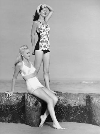 Two Women in Bathing Suits by George Marks