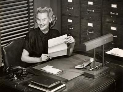 Woman Executive at Her Desk by George Marks