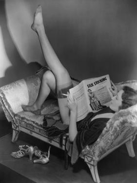 Woman Reading Magazine by George Marks