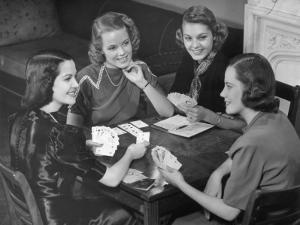 Women Playing Cards by George Marks