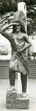 Wooden Statue of Indian by George Marks