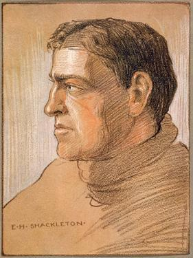 Portrait of Shackleton, from 'The Heart of the Antarctic' by Sir Ernest Shackleton (1874-1922) by George Marston
