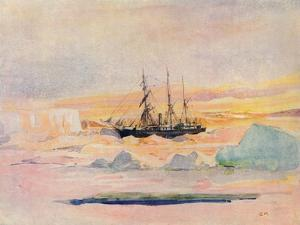 Shackleton's Ship, the Nimrod, in Mcmurdo Sound, 1912 by George Marston