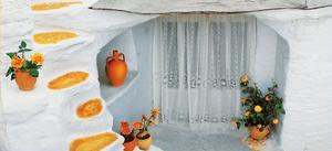 Orange Pot with Lace Curtains by George Meis
