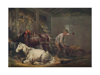 'Horses in a Stable', 1791