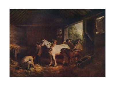 'The Inside of a Stable', 1791, (c1915)