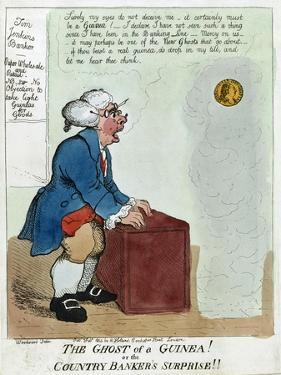 The Ghost of a Guinea! or the Country Banker's Surprise!!, 1804 by George Moutard Woodward