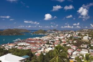 Aerial View of Charlotte Amalie St Thomas USVI by George Oze