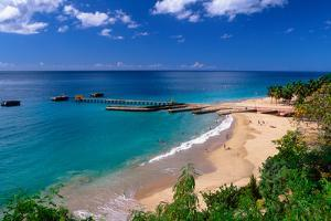 Aerial View of Playa Crashboat, Puerto Rico by George Oze