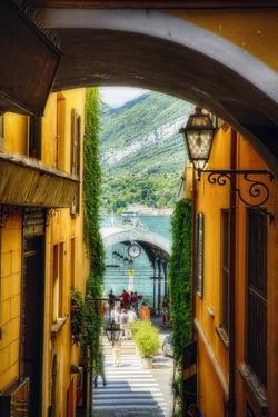 Alley With a Lake View, Bellagio, Lake Como, Italy by George Oze