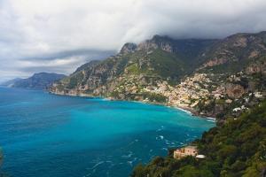 Amalfi Coast Scenic Vista at Positano, Italy by George Oze