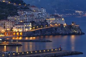 Amalfi Night Scenic,Campania, Italy by George Oze
