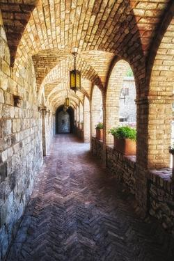 Archways Of A Tuscan Castle In Napa Valley by George Oze
