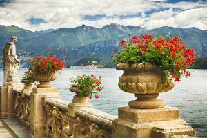Balustrade With Lake View, Como, Italy by George Oze