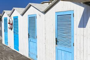 Beach Cabins, Positano, Italy by George Oze