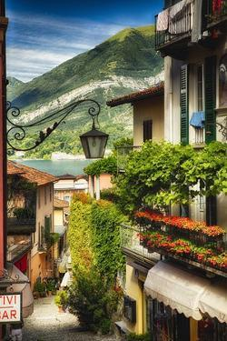 Bellagio Street View, Lake Como, Italy by George Oze