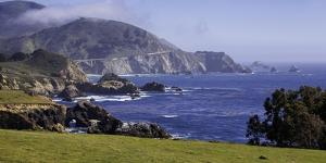 Big Sur Panorama at Rocky Creek, California by George Oze