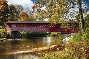 Burt Henry Covered Bridge, Vermont by George Oze