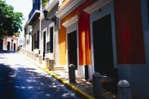 Calle Del Sol, Old San Juan; Puerto Rico by George Oze