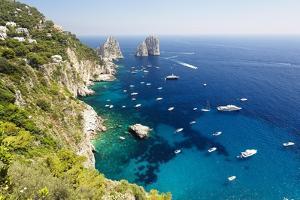 Capri Coastline at Faraglioni, Italy by George Oze