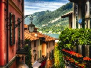 Charming Street Scene in Bellagio II by George Oze