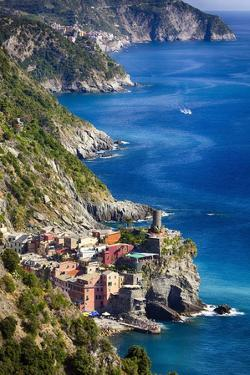 Cinque Terre Towns on the Cliffs, Italy by George Oze