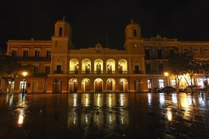 City Hall at Night, Old San Juan, Puerto Rico by George Oze