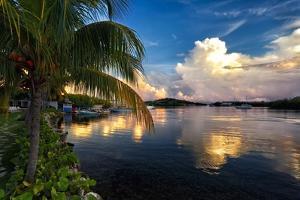 Cloud Reflection, La Parguera, Puerto Rico by George Oze