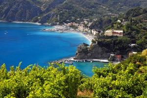 Coastal View at Monterosso, Cinque Terre, Italy by George Oze