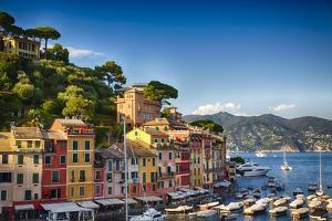 Colorful Harbor Houses in Portofino, Liguria, Italy by George Oze