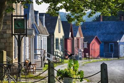 Colorful Historic Houses Mystic Seaport by George Oze