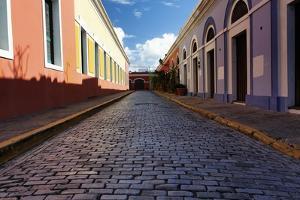 Colorful Narrow Street Of Old San Juan, Pr by George Oze