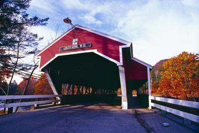 Covered Bridge Over The Ellis River Jackson NH