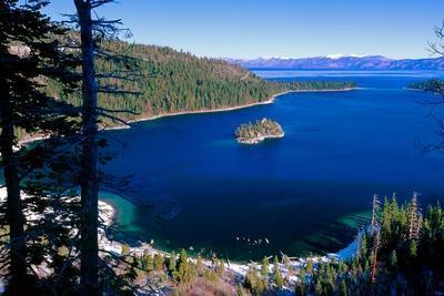 Emerald Bay At Winter, Lake Tahoe, California