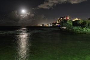 Full Moon Over Condado, Puerto Rico by George Oze