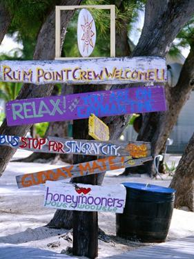 Fun Signpost at Run Point, Cayman Islands by George Oze