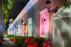 La Princesa Night Scene, San Juan, Puerto Rico by George Oze