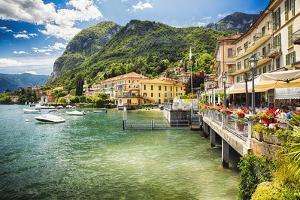 Lakeside Terrace Menaggio, Lake Como, Italy by George Oze