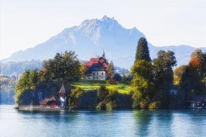 Little Chalet on Lake Luzern, Switzerland by George Oze