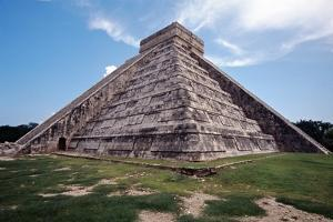 Low angle View of El Castillo Chichen Itza by George Oze