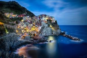 Manarola Night, Cinque Terre, Liguria, Italy by George Oze