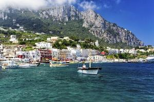 Marina Grande View from the Sea, Capri, Italy by George Oze